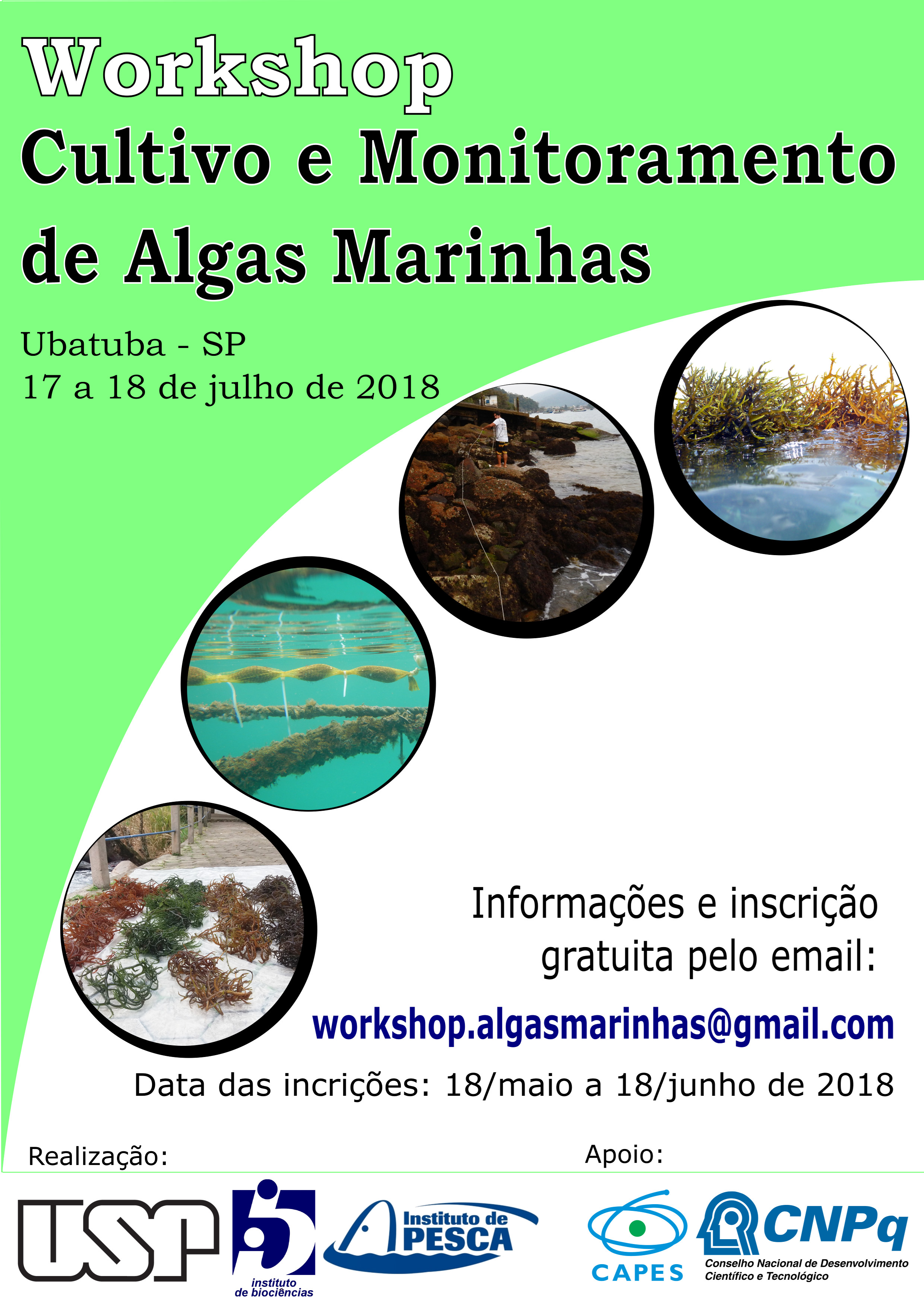 Workshop Cultivo e Monitoramento de Algas Marinhas